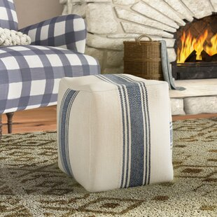 Chacra Canvas Pouf Ottoman by Laurel Foundry Modern Farmhouse