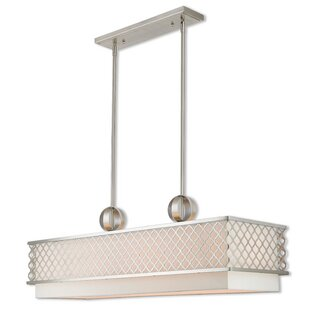 Tymvou Linear 9-Light Kitchen Island Pendant with 3 Down Lights by Beachcrest Home