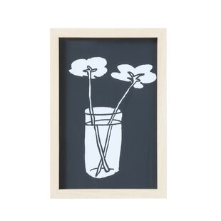 'Black & White Flowers' Framed Graphic Art