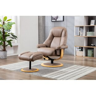 Deandres Jersey Manual Recliner With Footstool By Mercury Row