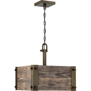 Loon Peak Boda 4-Light Square/Rectangle Chandelier
