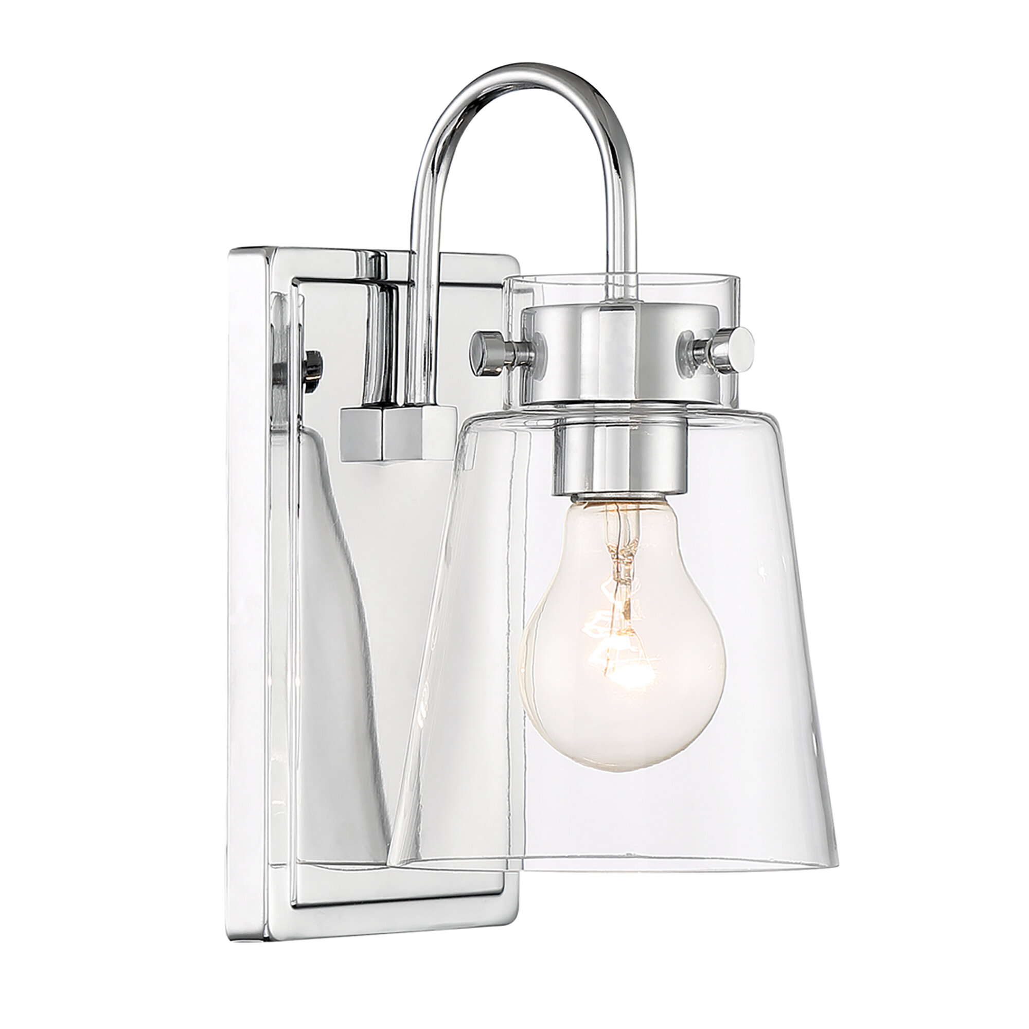 Dovecove 1 Light Dimmable Silver Armed Sconce Wayfair