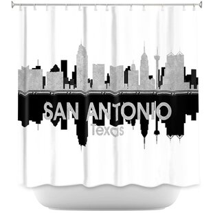 City IV San Antonio Texas Single Shower Curtain