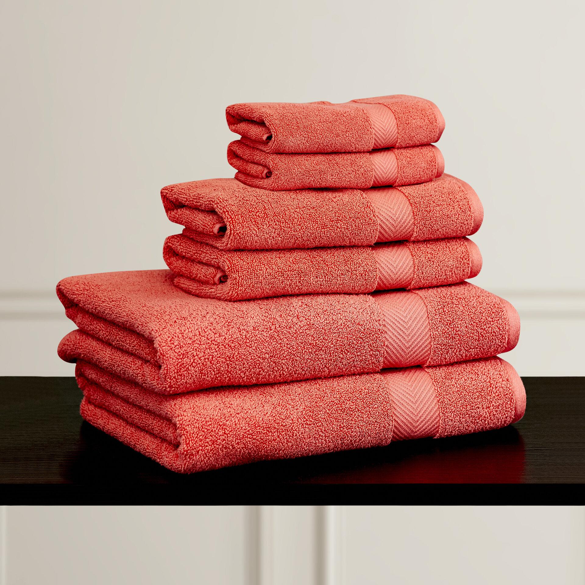 Charlton Home Keewatin Zero Twist 6 Piece 100 Cotton Towel Set Reviews Wayfair