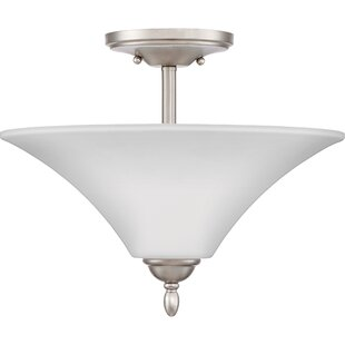 Newfane 2-Light Semi-Flush Mount by Charlton Home