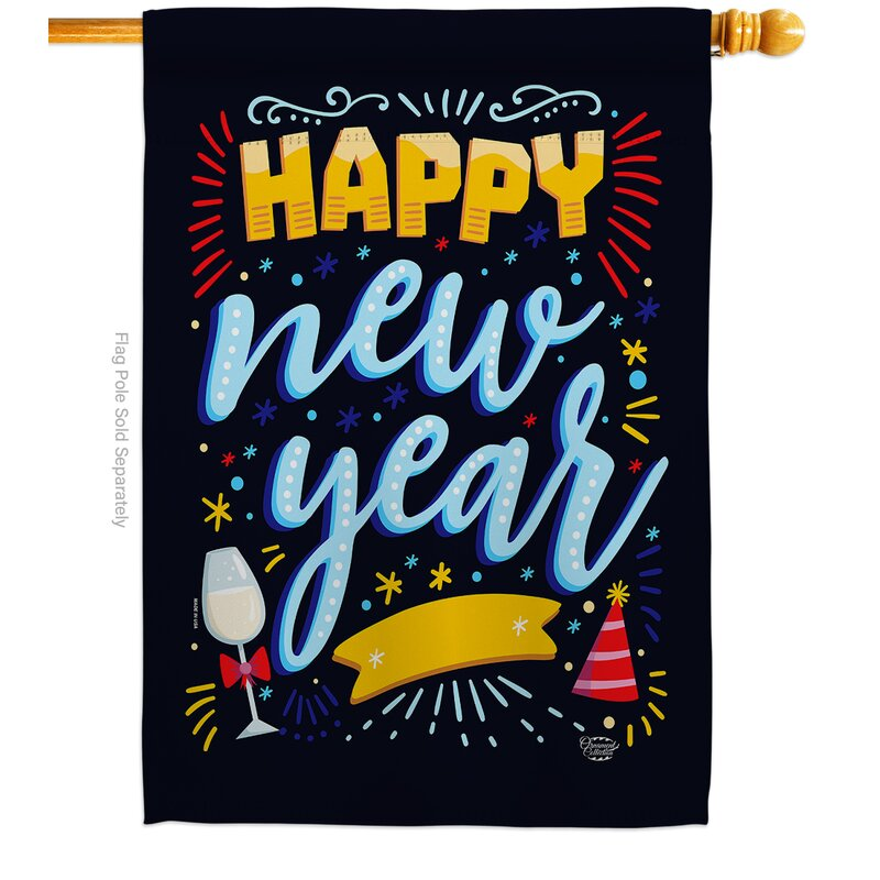 Ornament Collection It New Year Impressions Decorative 2 Sided Polyester 40 X 28 In House Flag Wayfair
