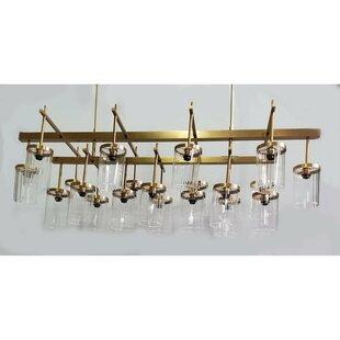 Corrigan Studio Crutchfield Rectangular 20-Light Shaded Chandelier
