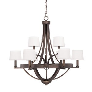 Chastain 9-Light Shaded Chandelier