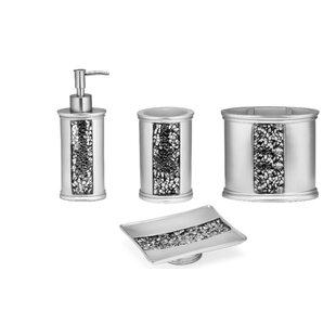 Rivet 4 Piece Bathroom Accessory Set