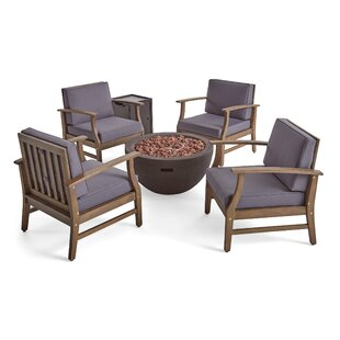 Brien Outdoor 6 Piece Multiple Chairs Seating Group with Cushions