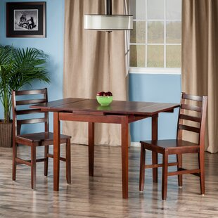 Shaws 3 Piece Dining Set Alcott Hill