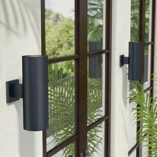 Zahara 2-Light Outdoor Sconce By Wade Logan Outdoor Lighting