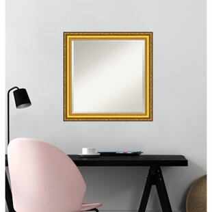 63c0c1c2998 Colonial Embossed Gold Square Traditional Beveled Accent Mirror. by Amanti  Art
