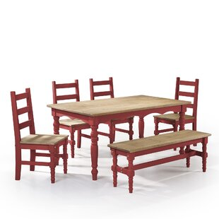 Pinard 6 Piece Solid Wood Dining Set by G..