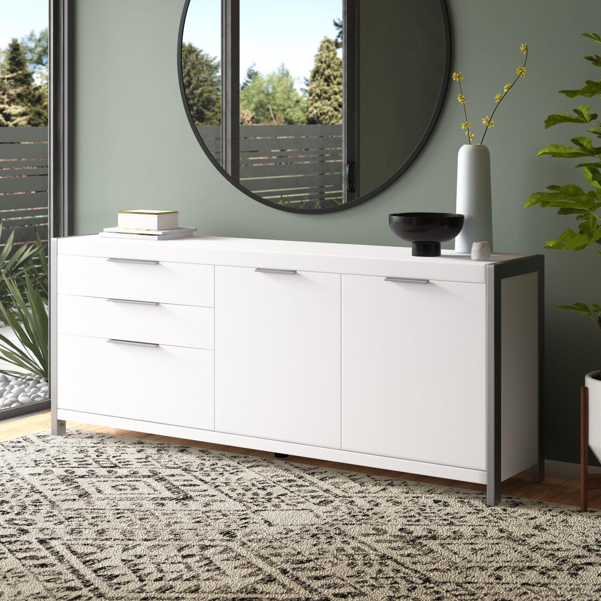 Allmodern Ewan 74 8 Wide 3 Drawer Sideboard Reviews Wayfair