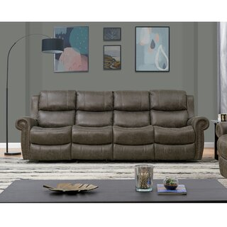 4 Seat Rolled Arm Wall Hugger Recliner Sofa by Canora Grey SKU:EE865416 Order