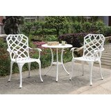 Anissa Patio 3 Piece Bistro Set
