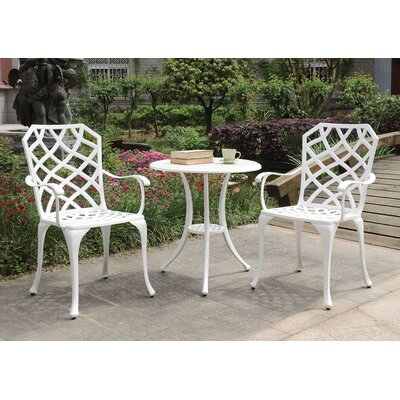 Anissa Patio 3 Piece Bistro Set by August Grove Great Reviews