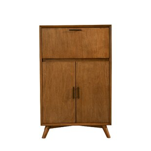 Elvira Wooden Drop Down Tray and Double Door Bar Cabinet by Corrigan Studio