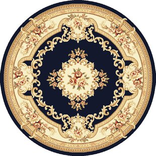 Soho Black & Ivory Aubusson Area Rug by Astoria Grand