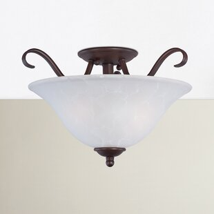 Shop For Luper 2-Light Semi Flush Mount By Three Posts