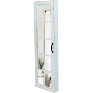 Charlton Home Kurtis Window Over The Door Jewelry Armoire with Mirror
