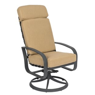 Cayman Isle High Back Swivel Rocking Chair with Cushions by Woodard