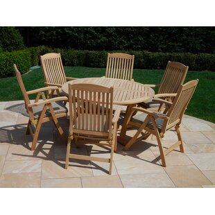 Royal Teak by Lanza Products 7 Piece Dining Set with Cushion
