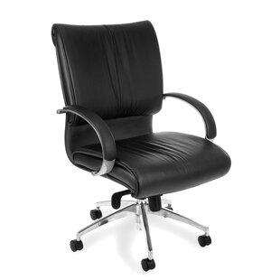 Sharp Genuine Leather Executive Chair