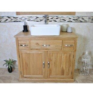 Robert Solid Oak 1000mm Free-Standing Vanity Unit By Belfry Bathroom