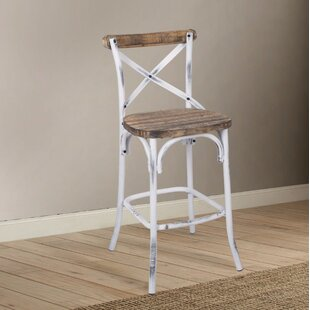 Compare prices Leonetti Walnut and Antique Bar Stool by Gracie Oaks Reviews (2019) & Buyer's Guide