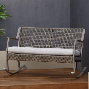 Calvin Two-Seat Rocking Bench With Cushion by Real Flame