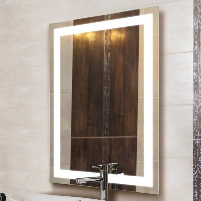 Ritenour Tri Color Led Wall Mounted Lighted Vanity Mirror