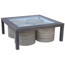 Maxine Table with Four Stools in Black Burn by Jeffan