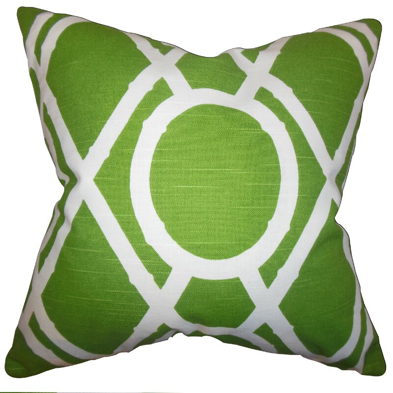 The Pillow Collection Whit Geometric Cotton Throw Pillow Reviews Wayfair