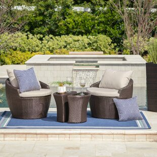 Zipcode Design Cherita 3 Piece Conversation Set with Cushions