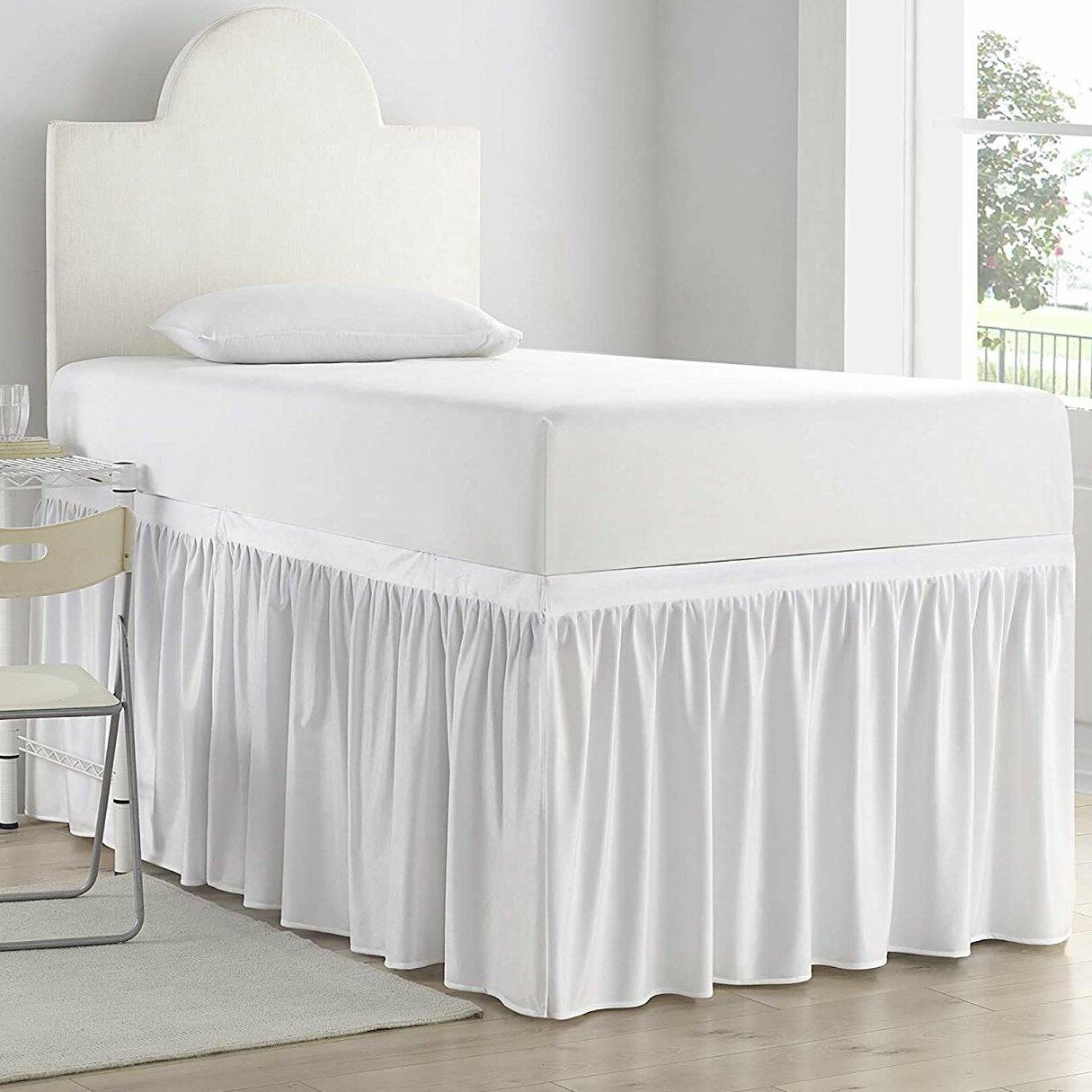 House Of Hampton Pinckney Luxury Plush Dorm 30 Bed Skirt Wayfair