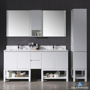 Maly 73 Double Bathroom Vanity Set with Mirror By Orren Ellis