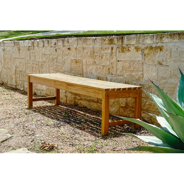Fine Catalina Outdoor Backless Teak Garden Bench Ncnpc Chair Design For Home Ncnpcorg