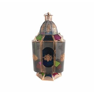 Illuminating Antique Metal Lantern By World Menagerie Outdoor Lighting