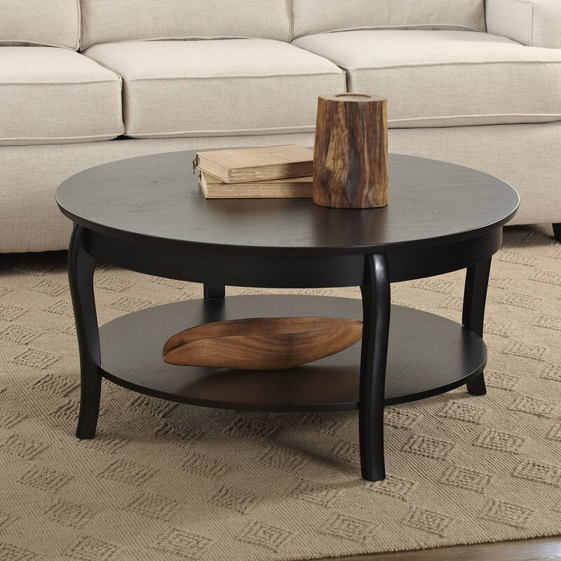 Alberts round coffee table reviews birch lane for Round living room table sets