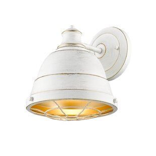 Elinna 1-Light Armed Sconce by Beachcrest Home