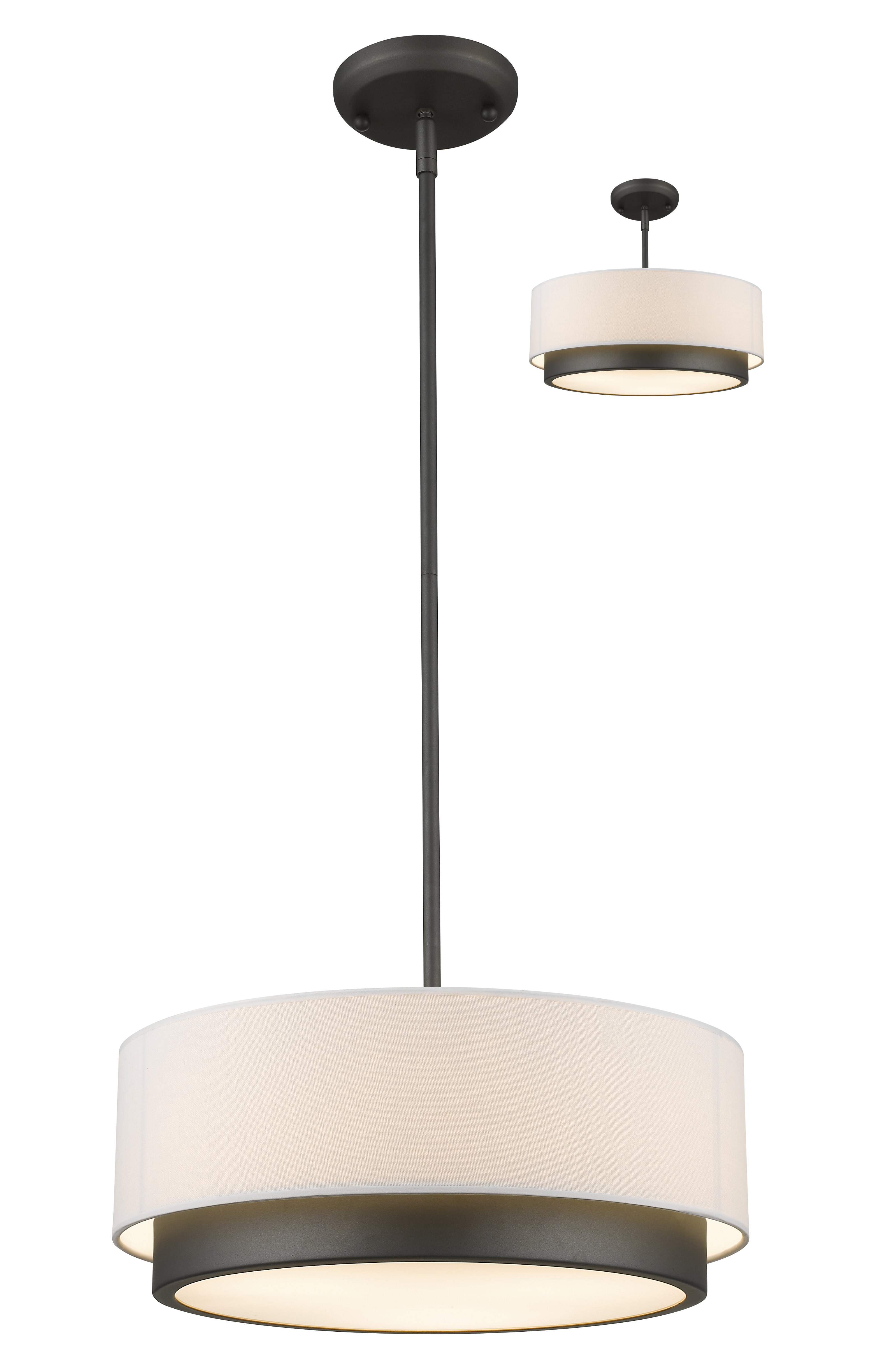 lighting shade how decor home light make pendant reisa to ceiling by drum fixtures