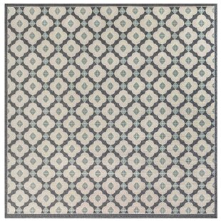 Deck Modern Tile Blue Indoor/Outdoor Area Rug