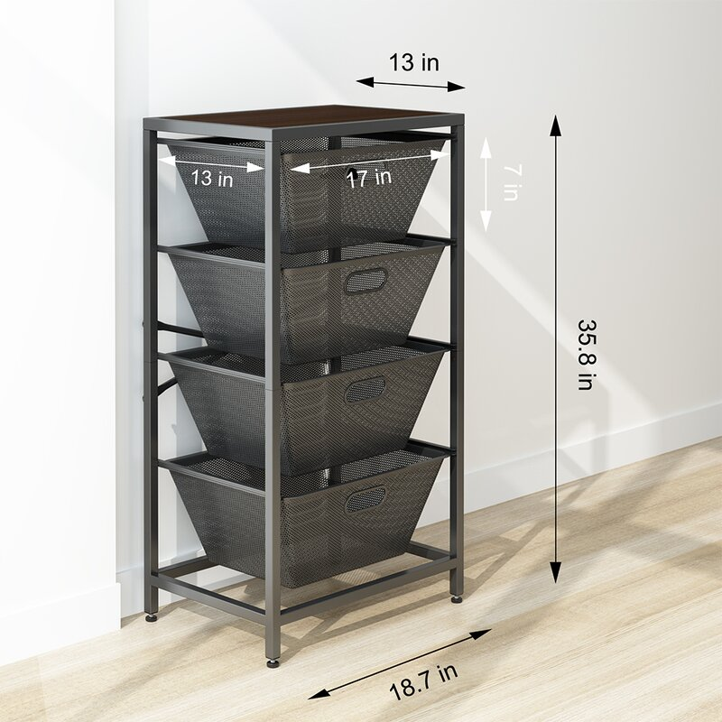 Shelving Unit With Sliding Drawer
