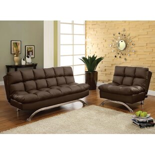 Javier Futon 2 Piece Living Room Set by Orren Ellis