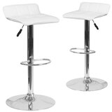 Coggeshall Swivel Adjustable Height Bar & Counter Stool (Set of 2) by Wade Logan®