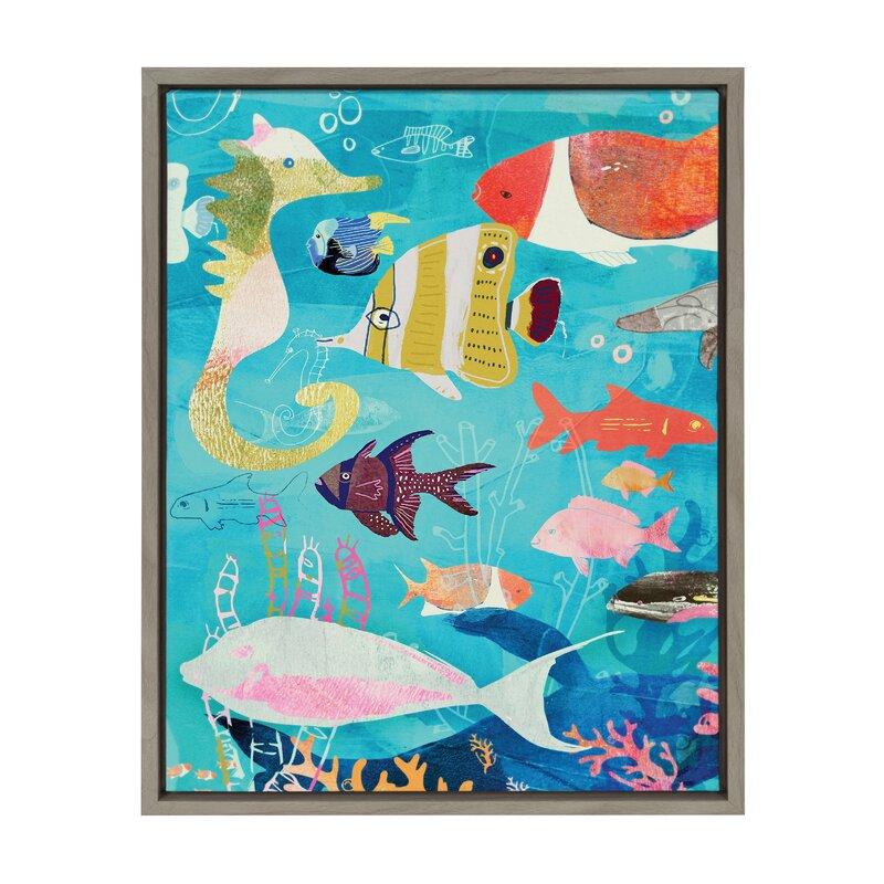 Harriet Bee  Ocean Party  Framed Graphic Art Print on Canvas  53d664c37c5b