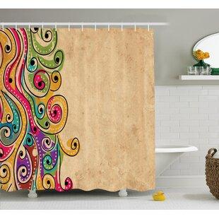 Georgetta African Folk Art Forms Shower Curtain ByEbern Designs