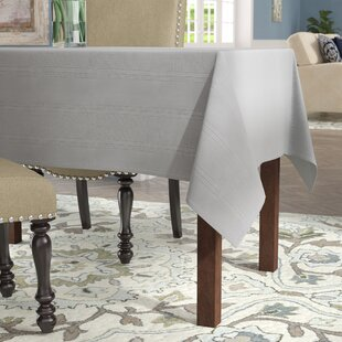 Humboldt Solid Spill Proof Fabric Tablecloth